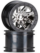 "AX08137 - 2.2"" Rebel Wheels - 41mm wide - chrom schwarz, 2 Stk"