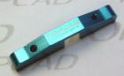 TOPCAD Querlenkerbefestigung hinten unten aus Alu, blau eloxiert