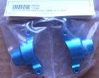 TT022 - Achsschenkel hinten, Alu, blau eloxiert, 2 Stk